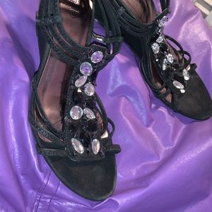 Black dress shoes.